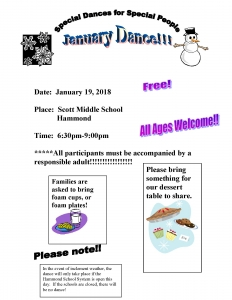 Special Dances for Special People - January Dance