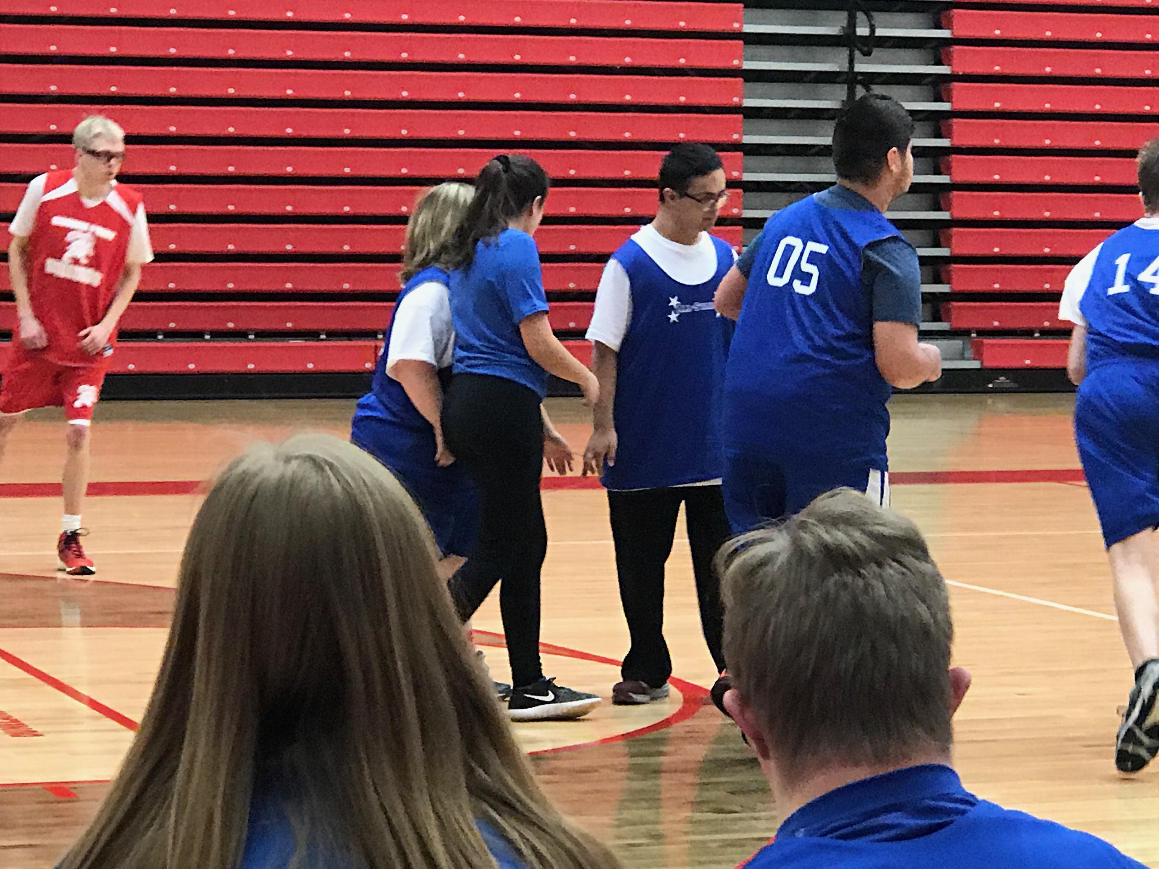 Coach Powers' blue team plays at CPHS