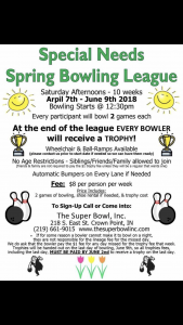 Special Needs Bowling League
