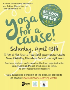 Yoga for a Cause Fundraising Flyer