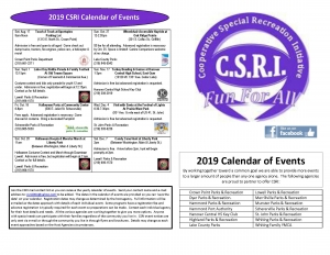 CSRI 2019 Calendar of Events - Please Click the Flyer for Information