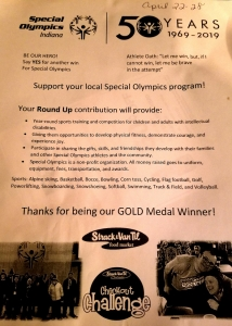 Special Olympics Flyer