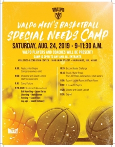 Valpo Special Needs Baketball Camp Flyer