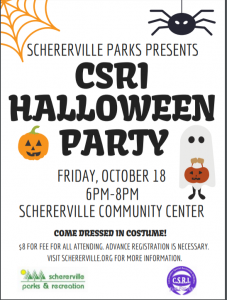 CSRI Halloween Party Flyer