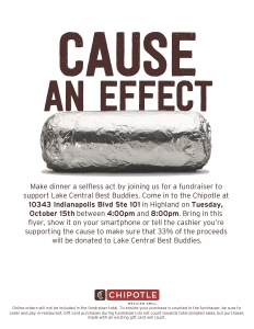 Chipotle Best Buddies Fundraiser Flyer