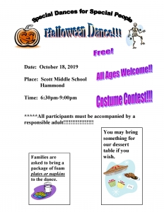 October Halloween Dance Flyer