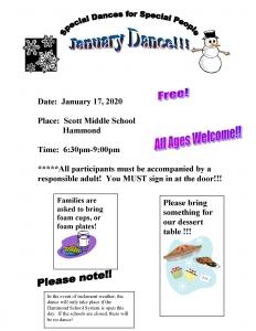January Dance Flyer
